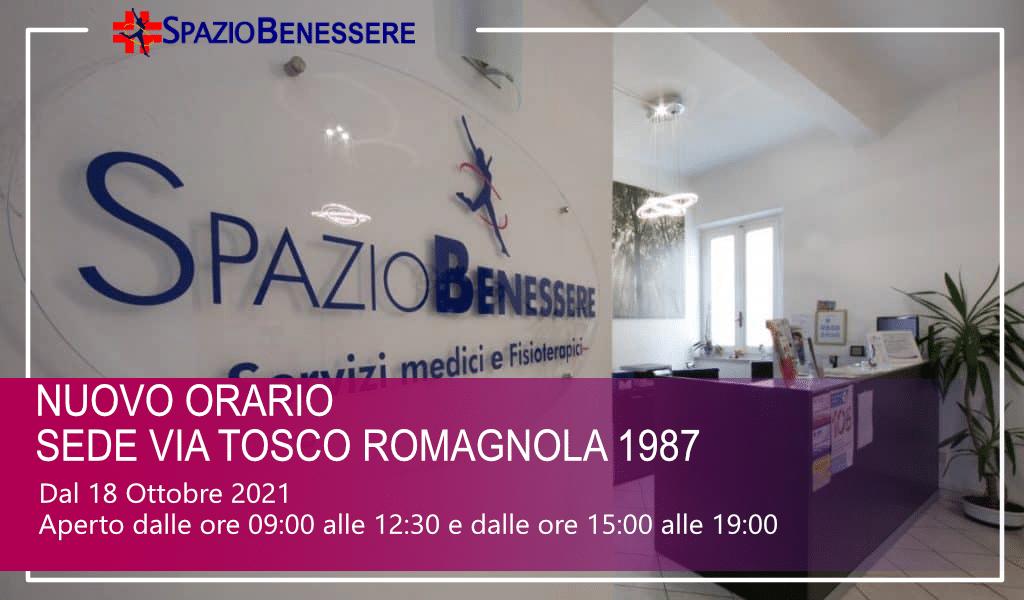 Nuovo orario Sede Tosco Romagnola 1987